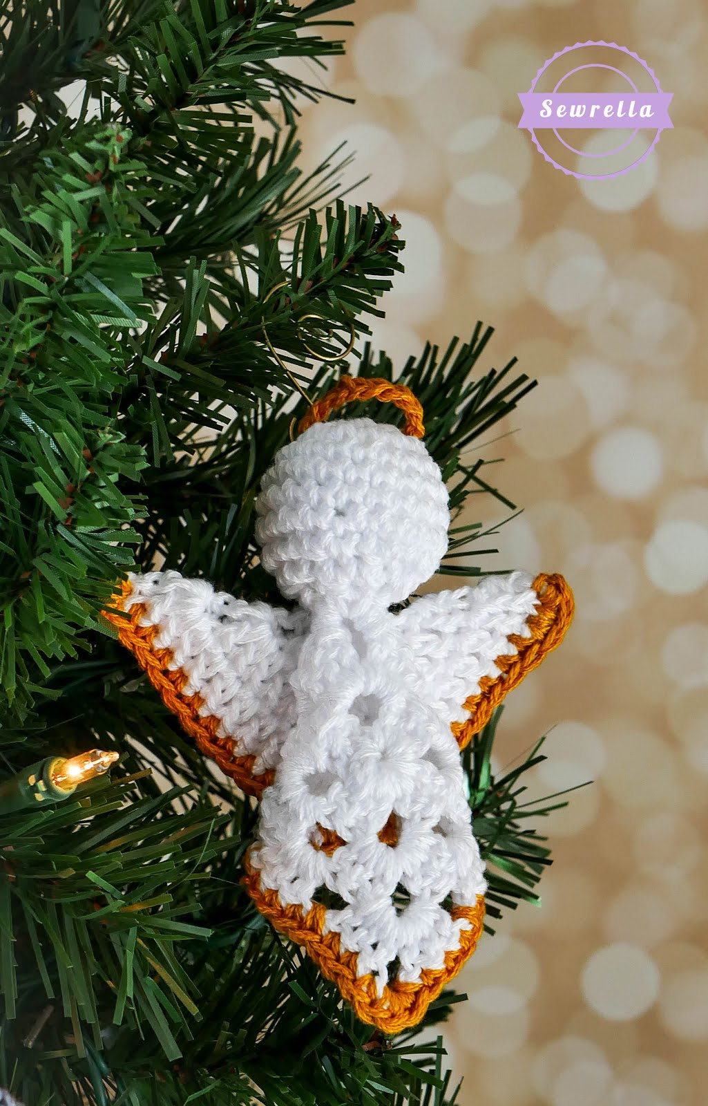 Crochet Granny Square Angel Christmas Ornament Sewrella