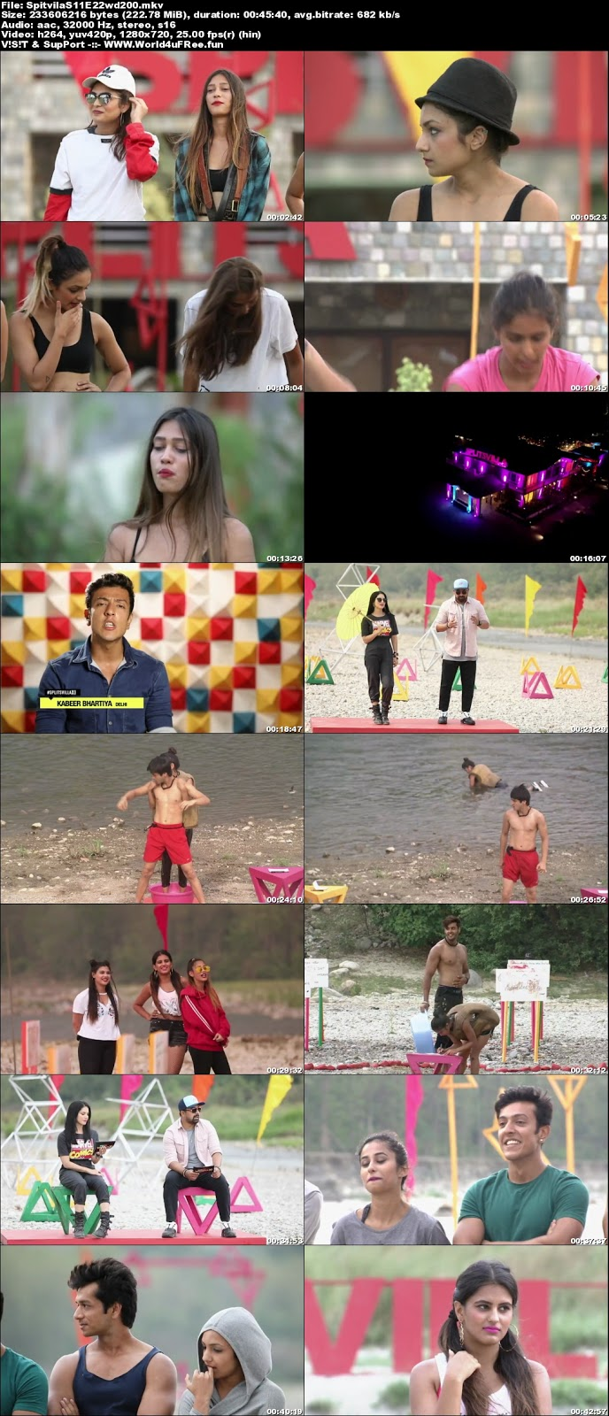 Splitsvilla Hindi Season 11 Episode 22 720p WEBRip 200mb x264