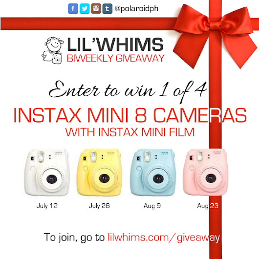 LIL'WHIMS' INSTAX MINI 8 GIVEAWAY