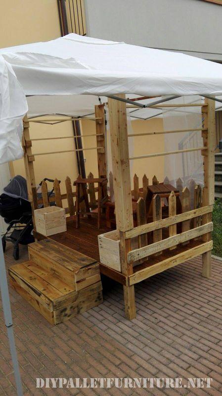 Stand para ferias de palets for Muebles para ferias