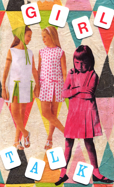 paper collage about girlhood