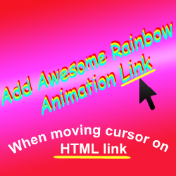 Awesome Rainbow Animation Link Widget For Blogger: