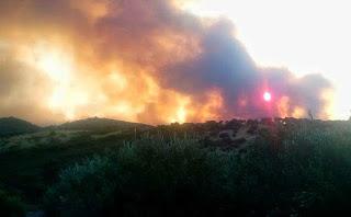 Συνδρομή της Περιφέρειας Αττικής στην πυρκαγιά στην Εύβοια