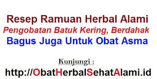 RESEP Ramuan obat alami batuk asma,kering,berdahak-herbal tradisional