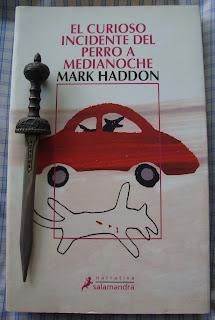 Portada del libro El curioso incidente del perro a medianoche, de Mark Haddon