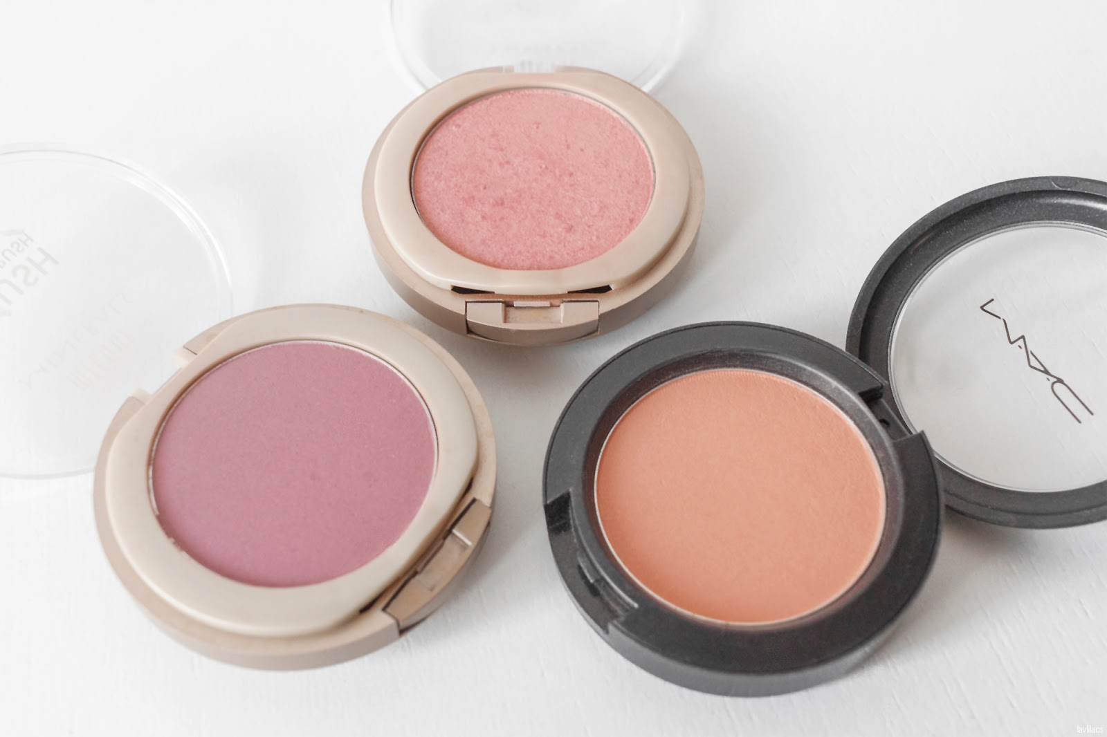 lavlilacs 2018 Project Make a Dent - beginning - Milani Minerals Blushes in Sweet Rose and Luminous, MAC Cosmetics My Highland Honey