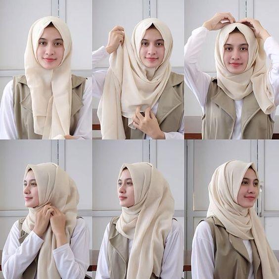 tutorial hijab paling mudah