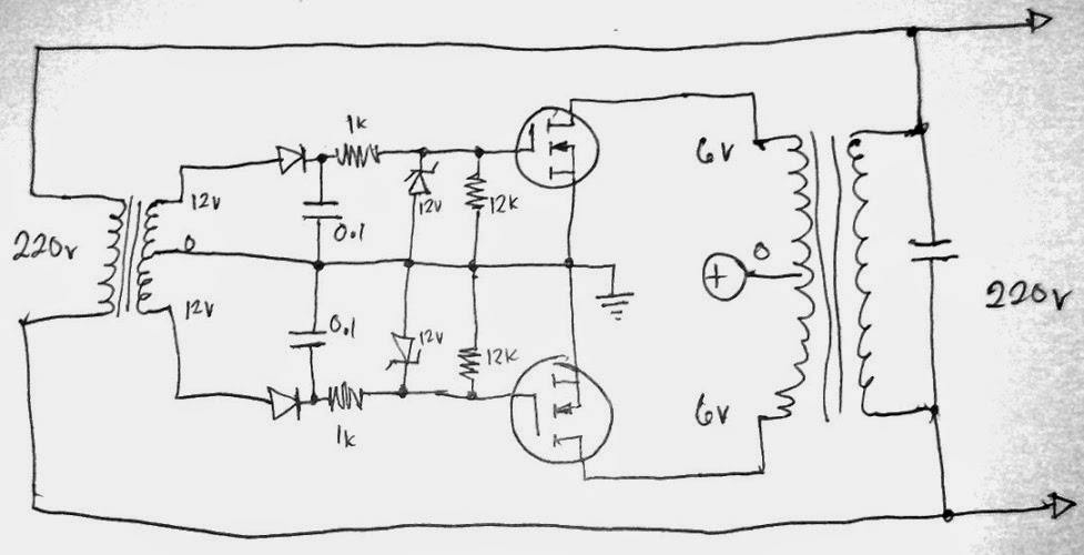 grid tie inverter circuit diagram car security system wiring simplest gti using scr search the upper tap may be configured with while lower to a balancing load or more effectively fed back primary side for charging