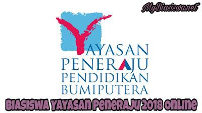 Permohonan Biasiswa Yayasan Peneraju 2018 Online