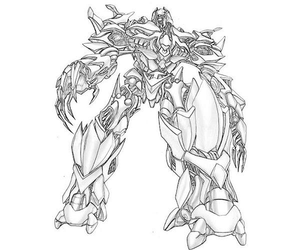 Transformers Prime Megatron Coloring Pages