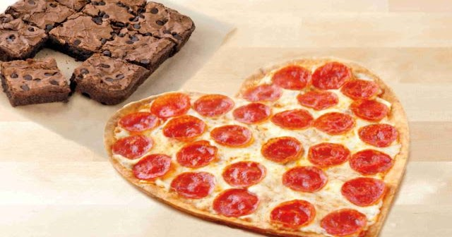 Image result for papa john's heart shaped pizza