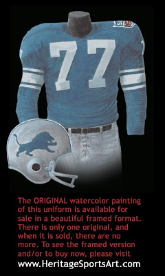 Detroit Lions 1969 uniform