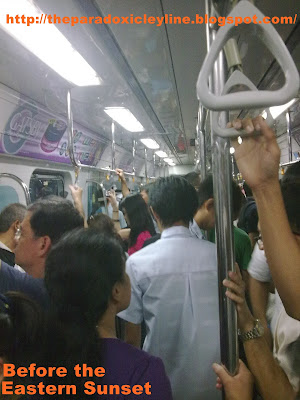 LRT Purple Line is crowded.