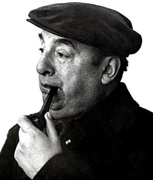 Foto de Pablo Neruda con boina