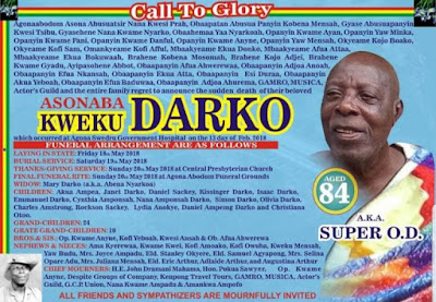 Super OD to be buried on May 19 at Agona Abodom