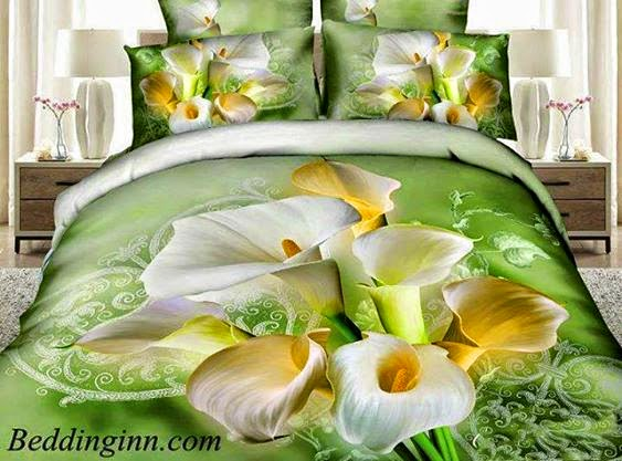 100% Cotton High Quality Fresh Flowers Reative Print 4 Piece Bedding Sets/Duvet Cover Sets