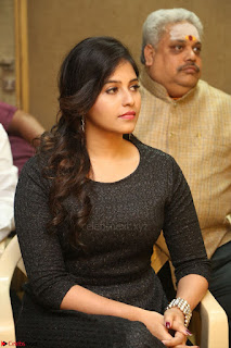 Anjali in Black Short Dress at Chitrangada Movie Success Meet ~  008.JPG