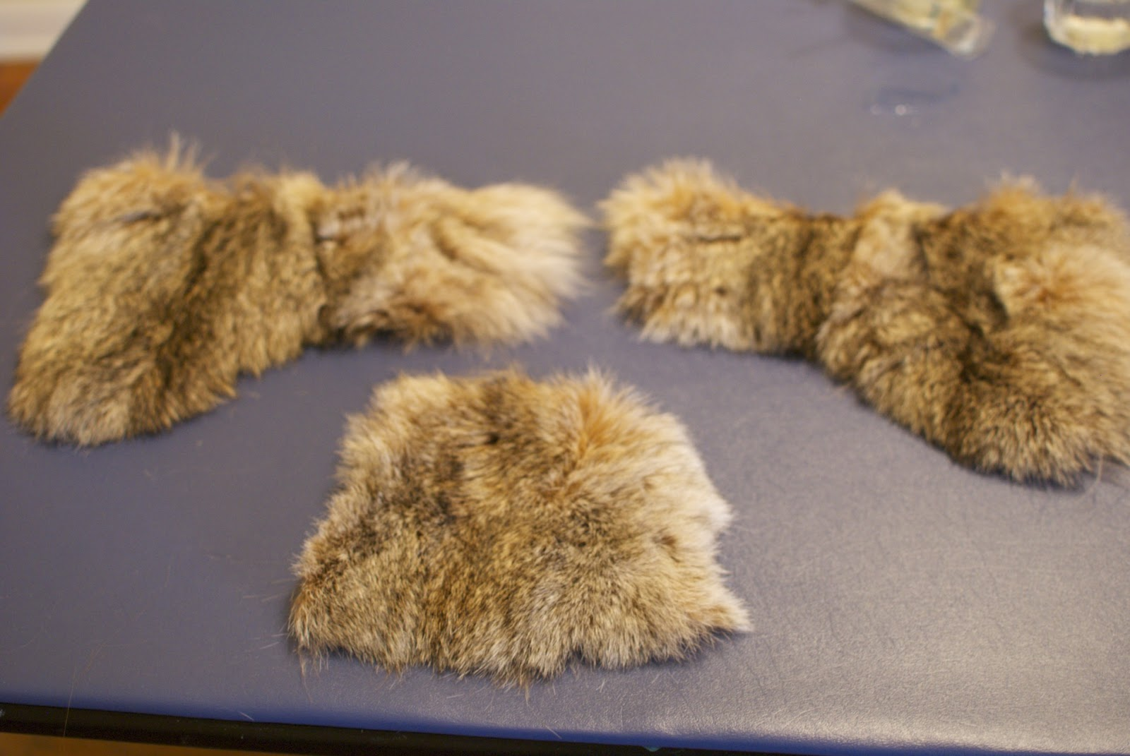 848d4e69e0b Now sew piece to the leather. You can also forgo the leather and do all  fur. I didn t have enough lynx
