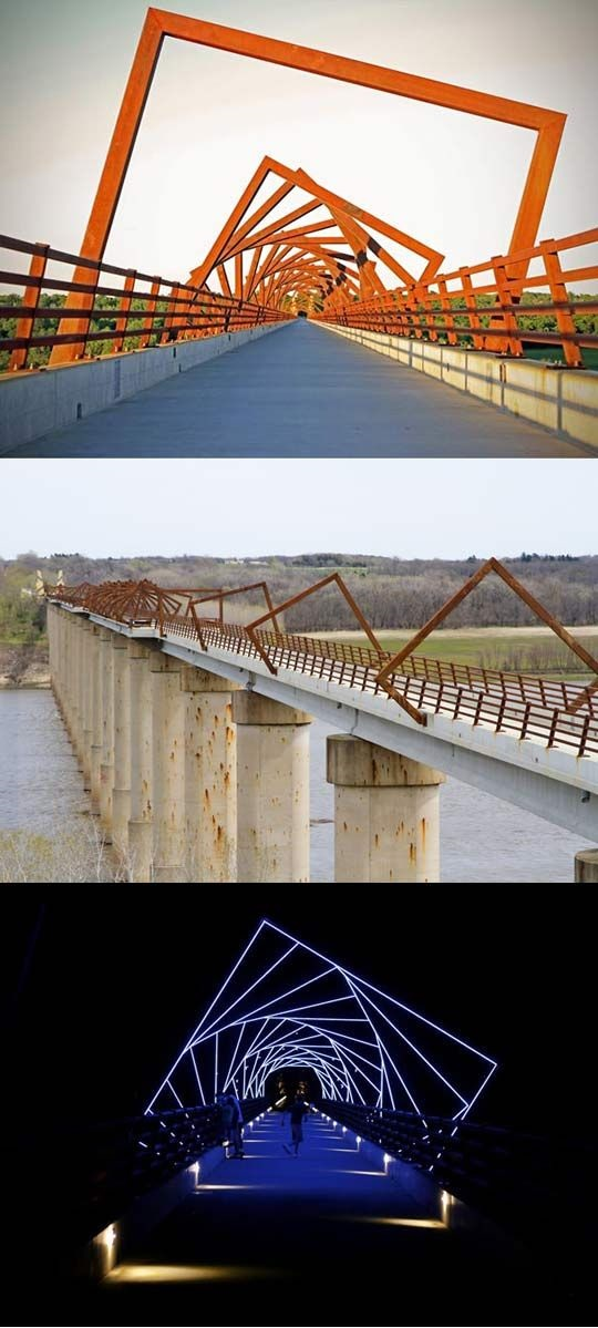 High Trestle Trail Bridge near Des Moines, Iowa