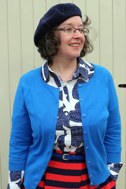 Patterning Mixing a Midi Skirt   Boden Maggie Ottoman Skirt, Boden Shirt, Velvet Boots   Petite Silver Vixen