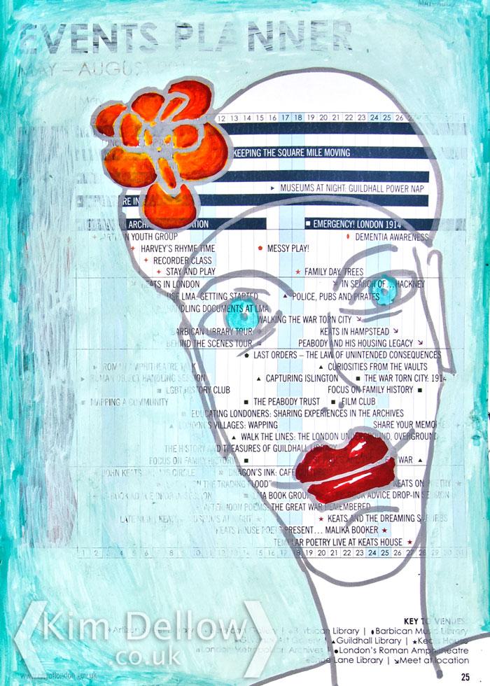 A paint pen face