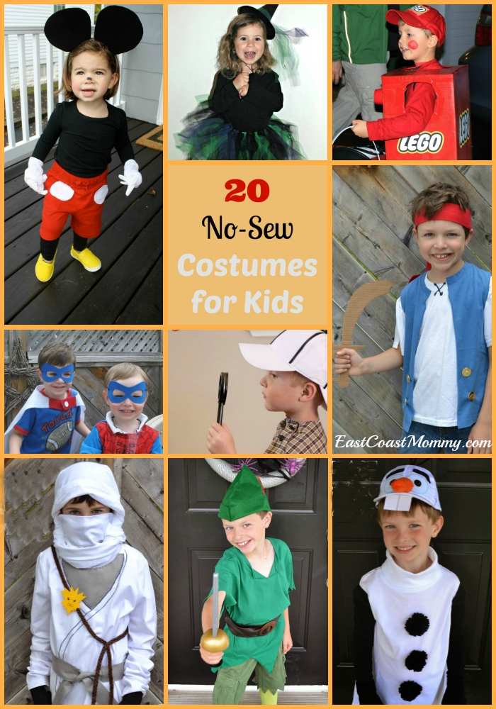 East Coast Mommy 20 Awesome No Sew Costumes For Kids