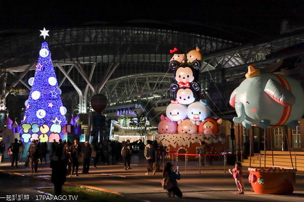 2019台中耶誕夢想世界|舊台中車站前廣場|迪士尼主題|聖誕樹
