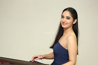 Radhika Mehrotra in sleevless Strap less Blue Gown At Prema Entha Madhuram Priyuraalu Antha Katinam Movie Interview ~  Exclusive 033.JPG
