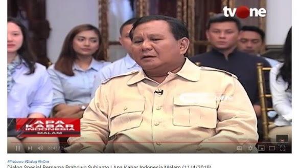 Tanggapan Prabowo saat Pembawa Acara Berharap 'People Power' Bukan Berarti Pertumpahan Darah