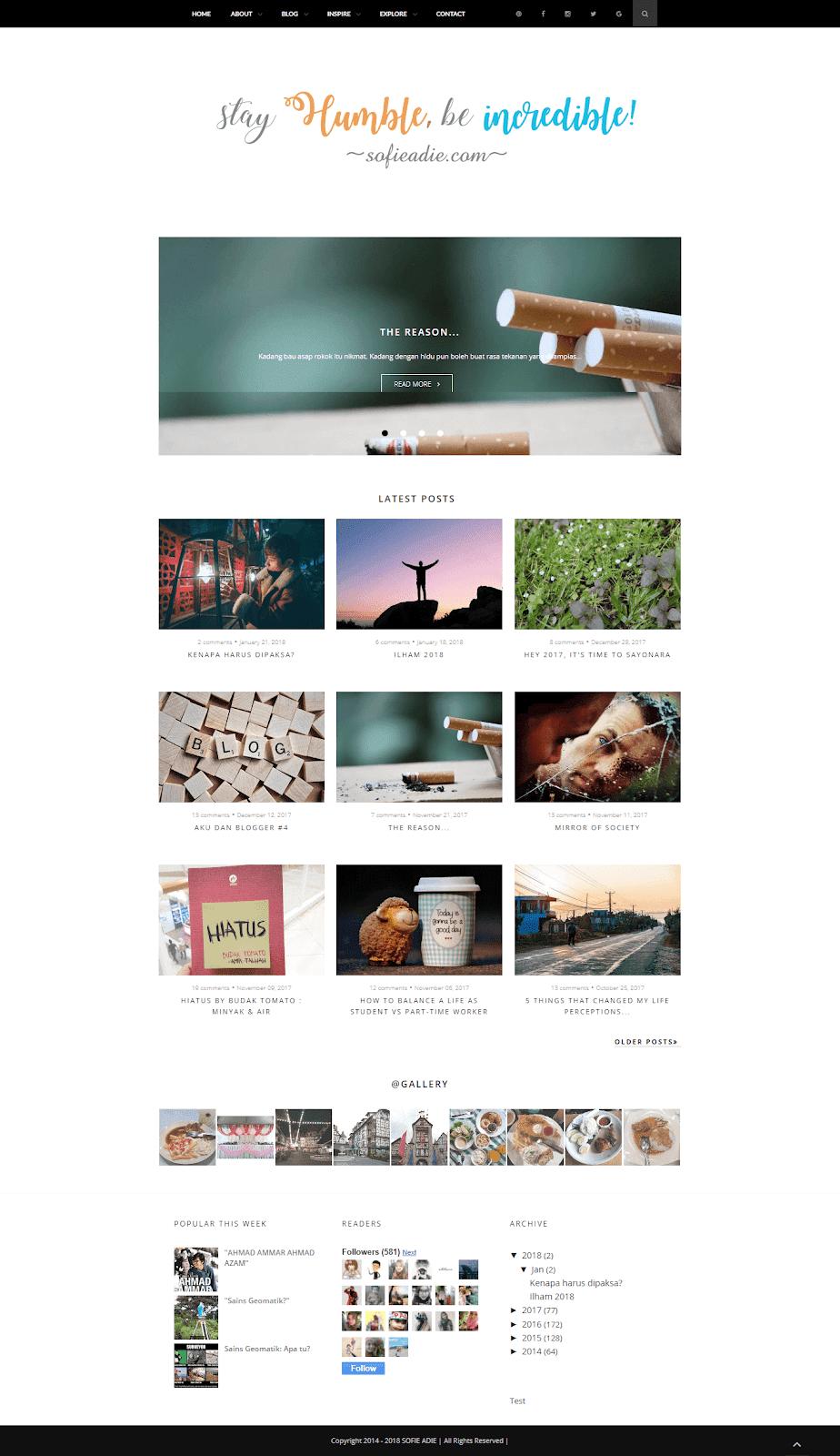 template, blog