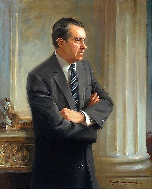 Richard Nixon In Color: Art Now And Then: Richard Nixon Portraits