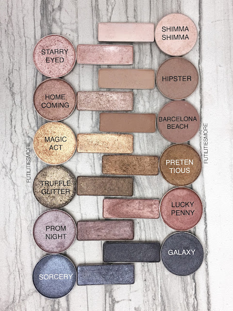 URBAN DECAY NAKED PALETTE DUPES WITH MAKEUP GEEK EYESHADOWS, futilitiesmore, futilitiesandmore, futilities and more
