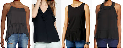 One of these ruffle hem tank tops is from Diane von Furstenberg for $228 and the other three are under $30. Can you guess which one is the designer top? Click the links below to see if you are correct!