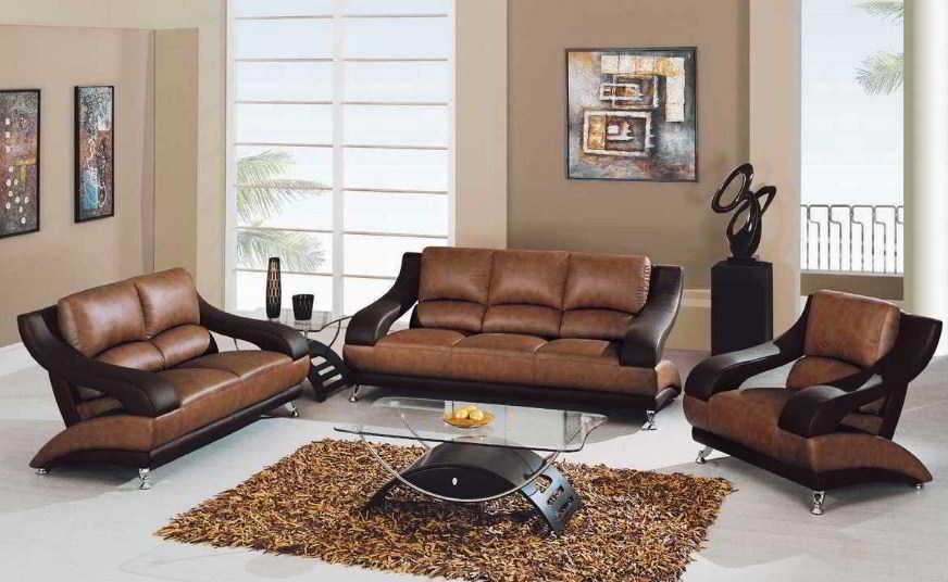 Sofa Kulit Elegan Modern