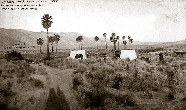 Vintage photo of the Oasis of Mara, circa 1889. Among other things it served as a stage line stop