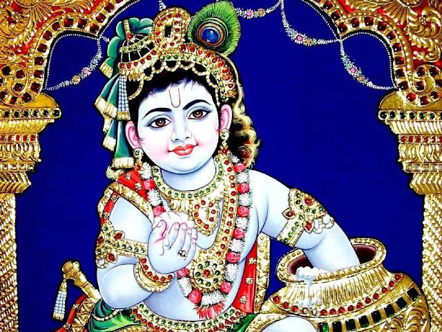 Best Lord Bal Krishna Makhan Chor Cute  Wallpaper