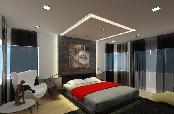 Kamar tidur bergaya modern