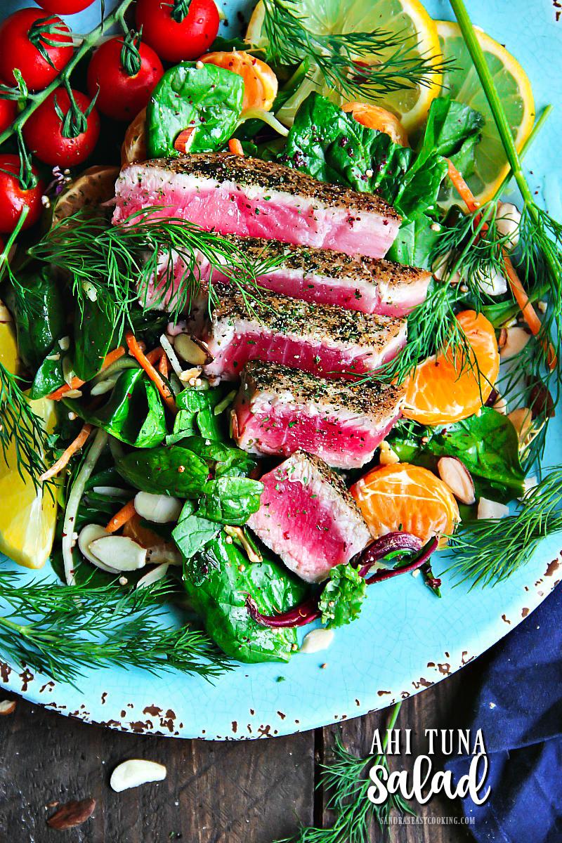 Valentine's Day Dinner Ideas - Ahi Tuna Salad