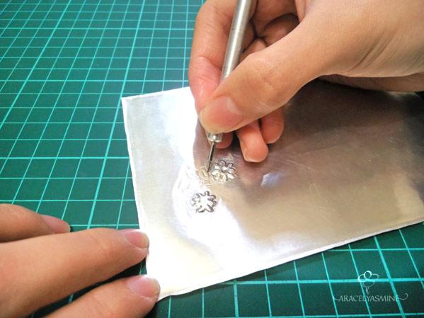 set de herramientas para repujado en aluminio