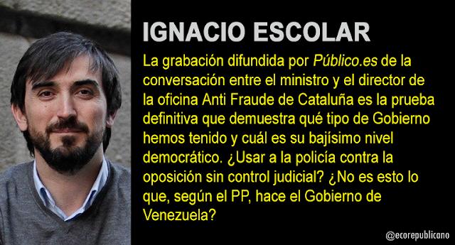 """Ignacio Escolar: """"Un Gobierno en la cloaca"""""""