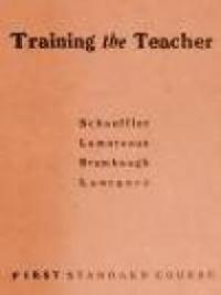 Training the Teacher