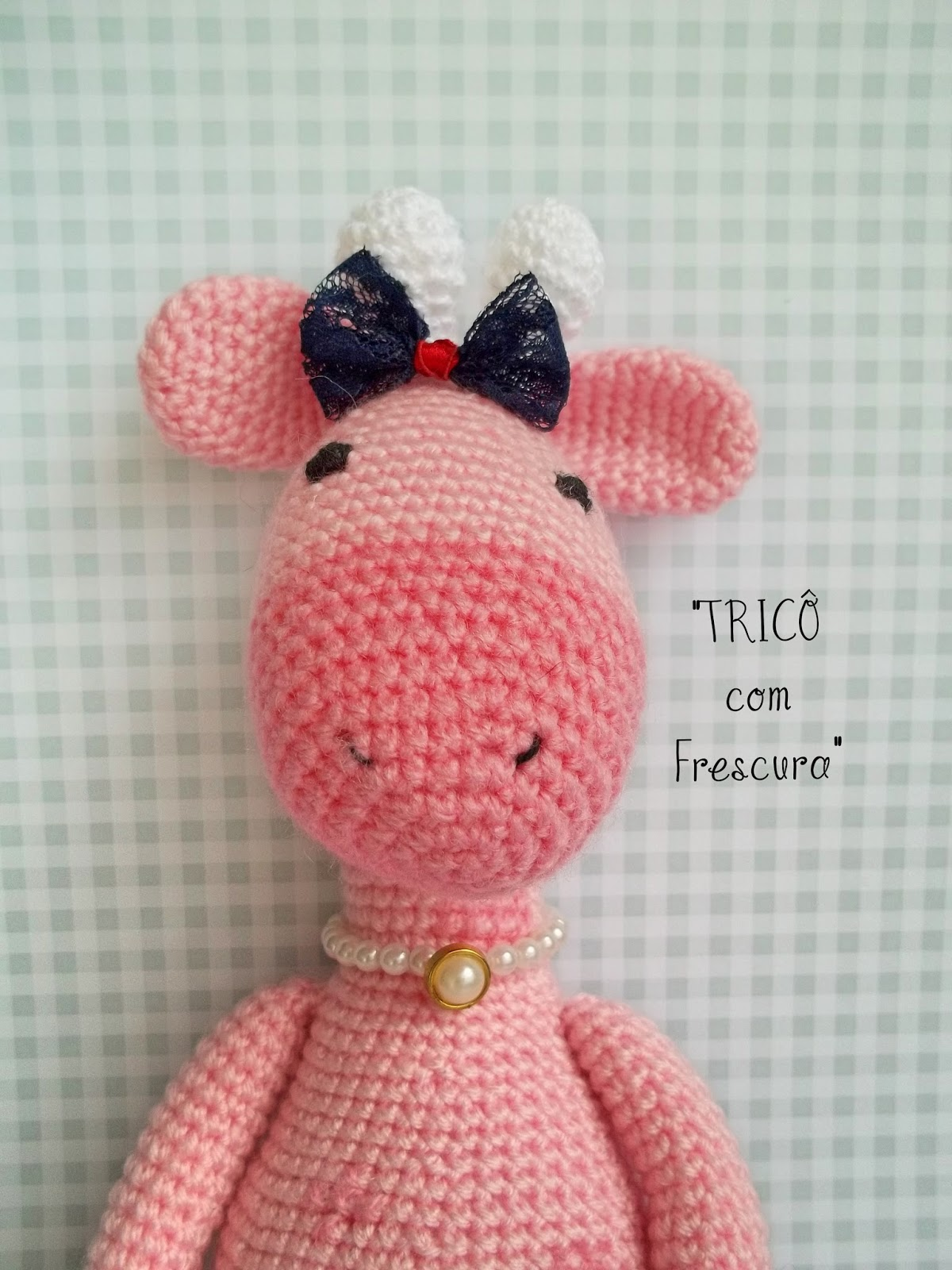 Girafinha Rosa Muito meiga #girafa #crochetlove #decorbaby ... | 1600x1200