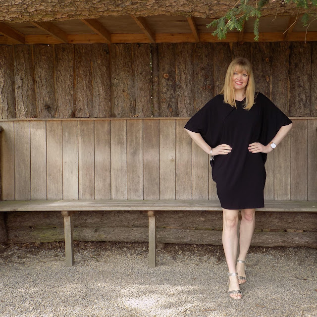 The Hope cocoon dress and silver sandals