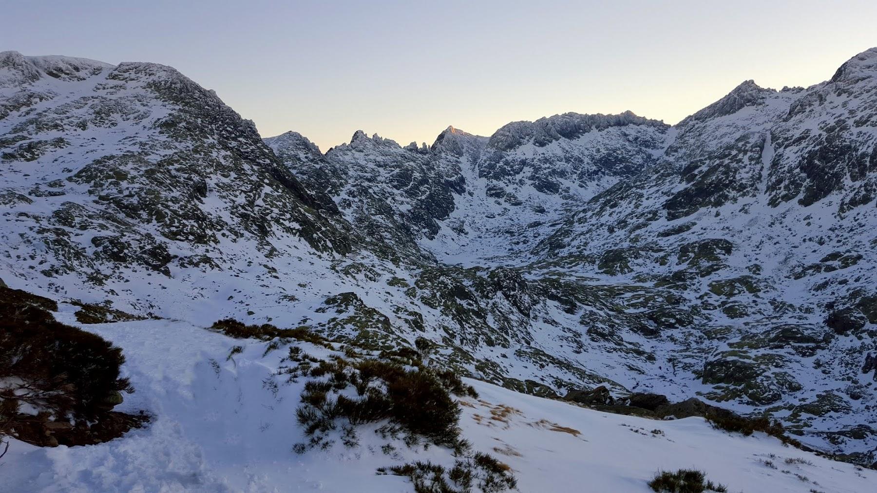 Circo de Gredos, montaña invernal