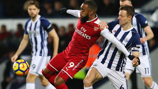 Hasil Pertandingan Liga Inggris :  West Brom vs Arsenal Skor Akhir 1-1