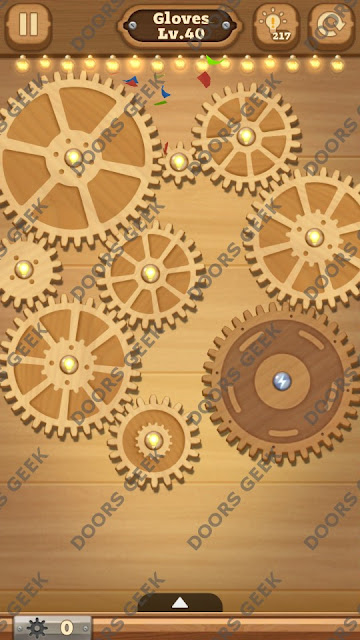 Fix it: Gear Puzzle [Gloves] Level 40 Solution, Cheats, Walkthrough for Android, iPhone, iPad and iPod