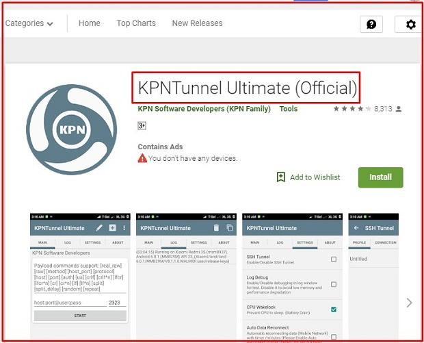 Dengan KPNTunnel Ultimate Untuk Merubah Kuota iFlix