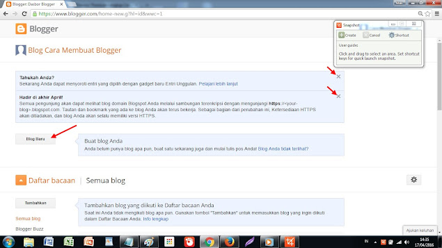 Dasboar blogger