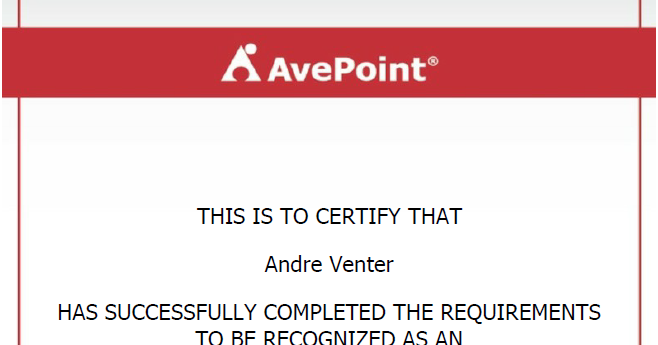 Andre's Microsoft ECM Blog: AvePoint - DocAve ...