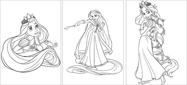Tangled Rapunzel Frying Pan Coloring Pages - Colorings.net